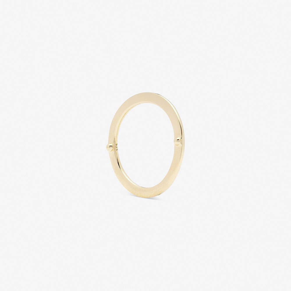 ensamble ring in yellow gold backside