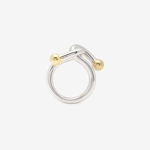 falcate ring in silver backside- ENNUI Atelier