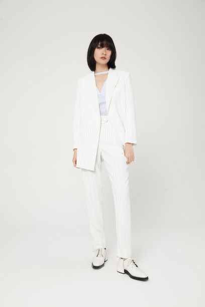 Woven Pants White by Lily Apparel