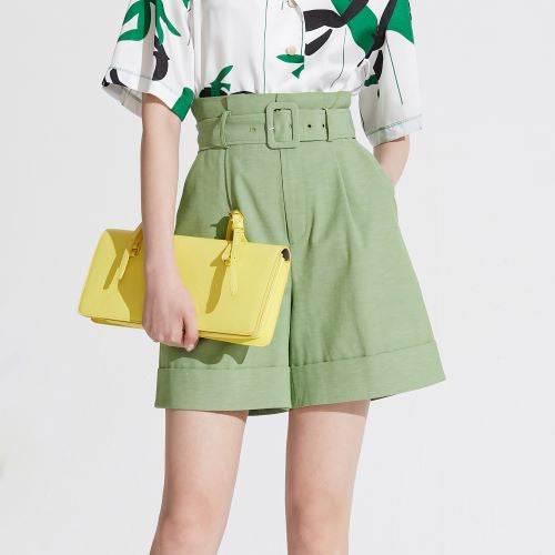 Grassgreen shorts by Lily Apparel