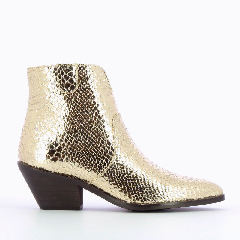 Gold Crocodile Boots