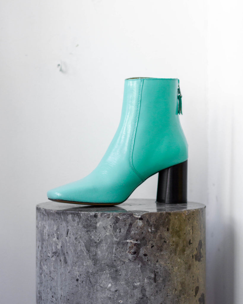 Luna Hollographic Ankle Boot Turquoise