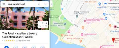 Google Map Reviews Example
