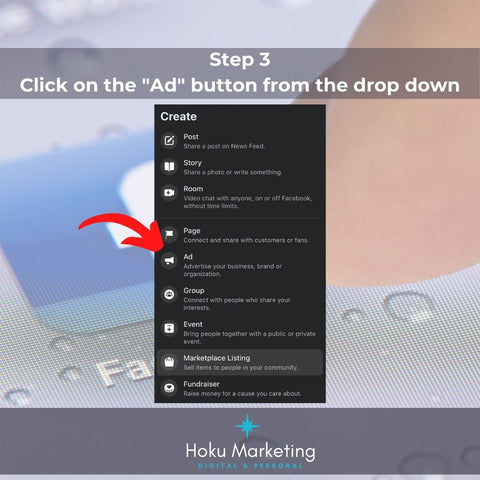 step 3 click on ad button