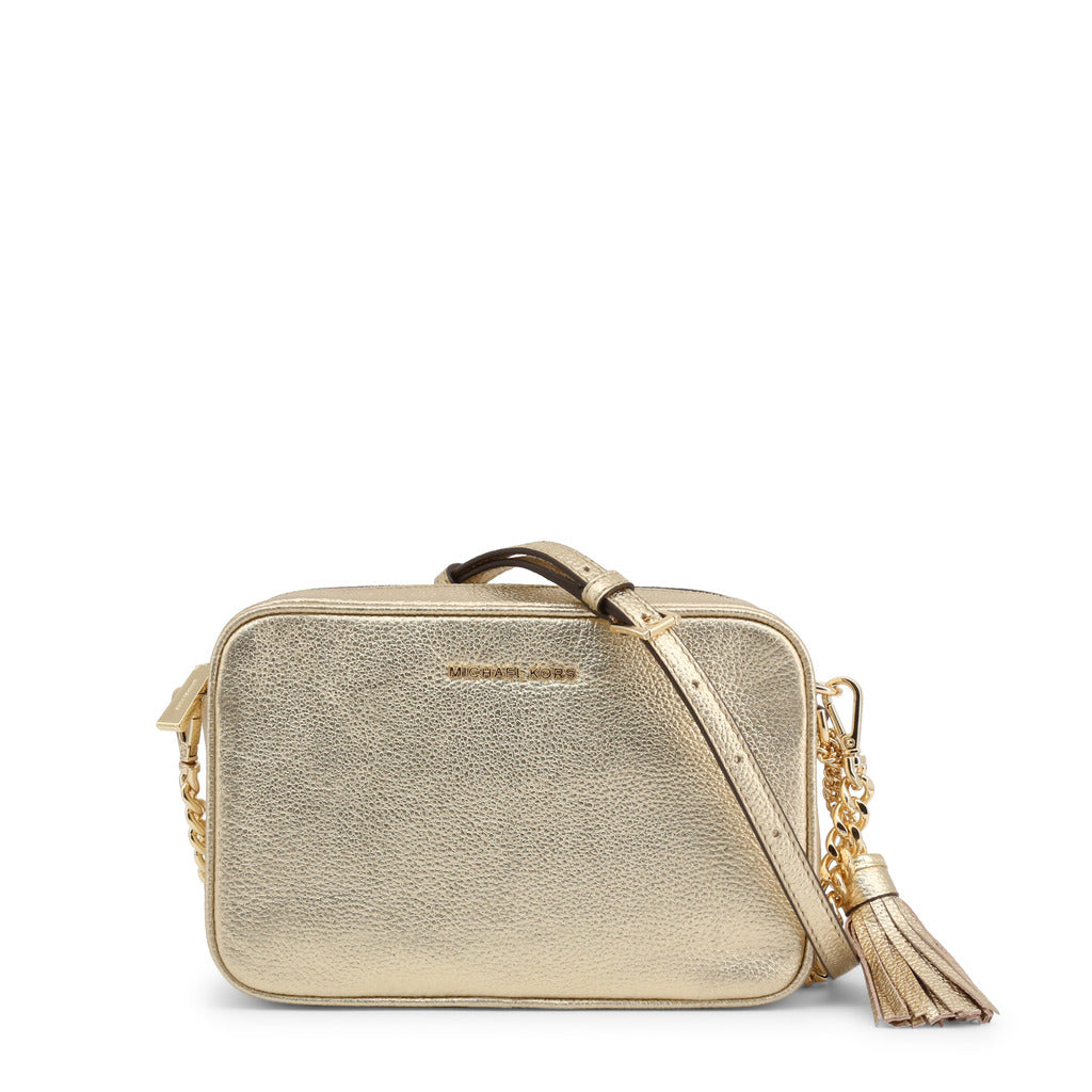 Details about Michael Kors Ginny Metallic Pebbled Leather Crossbody Bag 32F7MGNM6M 705