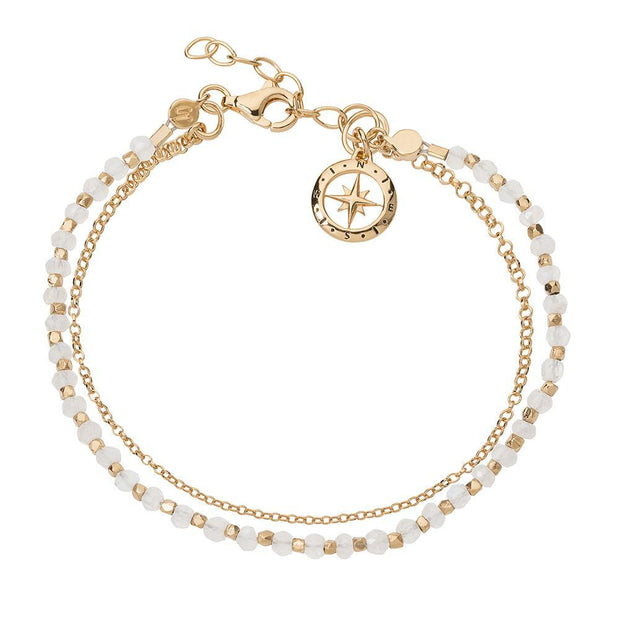 Friendship Bracelet Gold with Moonstone