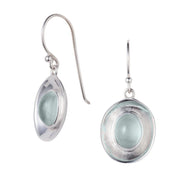 Illusion Aquamarine and Silver Earrings