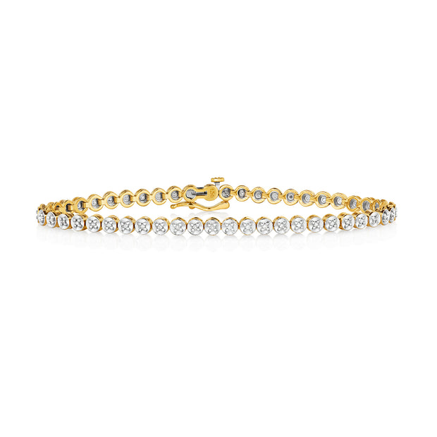 0.25ct Diamond Bracelet in 9K Gold