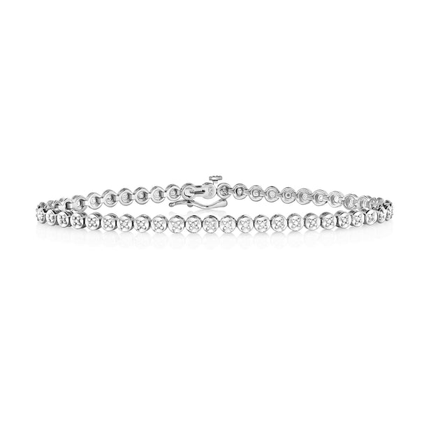 0.25ct Diamond Bracelet in 9K White Gold
