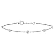 0.35ct Diamond Bracelet in 9K White Gold