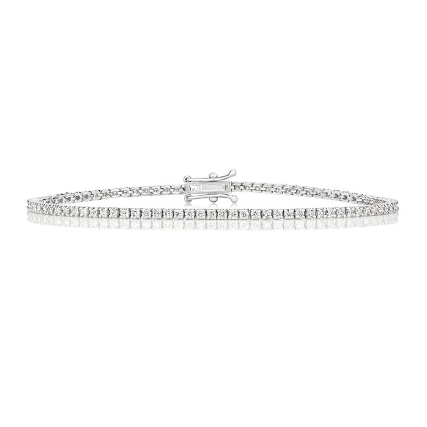 Diamond Tennis Bracelet in 18K White Gold