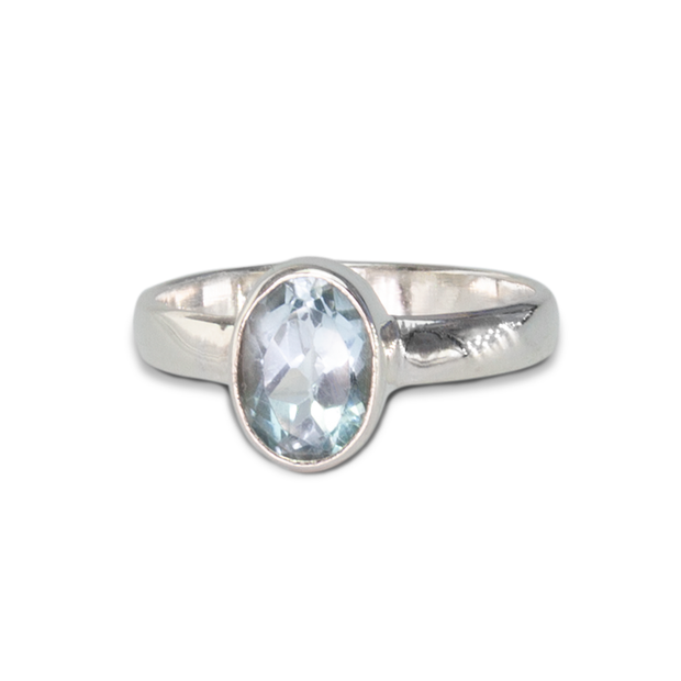 Blue Topaz Ring in Sterl.Silver 1.03ct