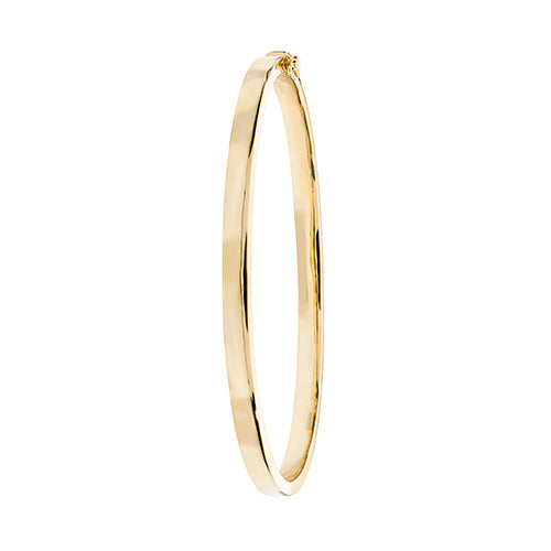 9K Yellow Gold Ladies' Plain Hinged Bangle