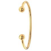 9K Yellow Gold Men's Solid Torc Bangle