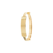9K Yellow Gold Babies' Expand 3mm Id Bangle
