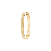 9K Yellow Gold Babies Dia Cut Exp 4mm Bangle