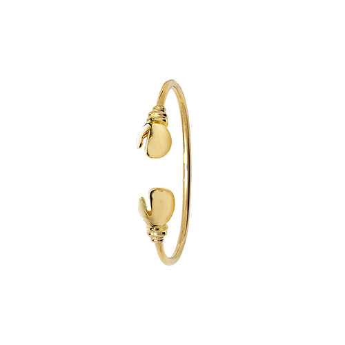 9K Yellow Gold Babies' Boxing Glove Bangle