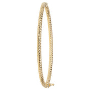 9K Yellow Gold Ladies' Dc Hinged Bangle