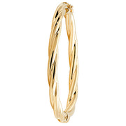 9K Yellow Gold Ladies' Hinged Bangle
