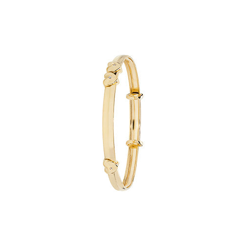 9K Yellow Gold Babies' Exp 4mm Id Bangle