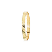 9K Yellow Gold Babies' Exp 4mm Bangle