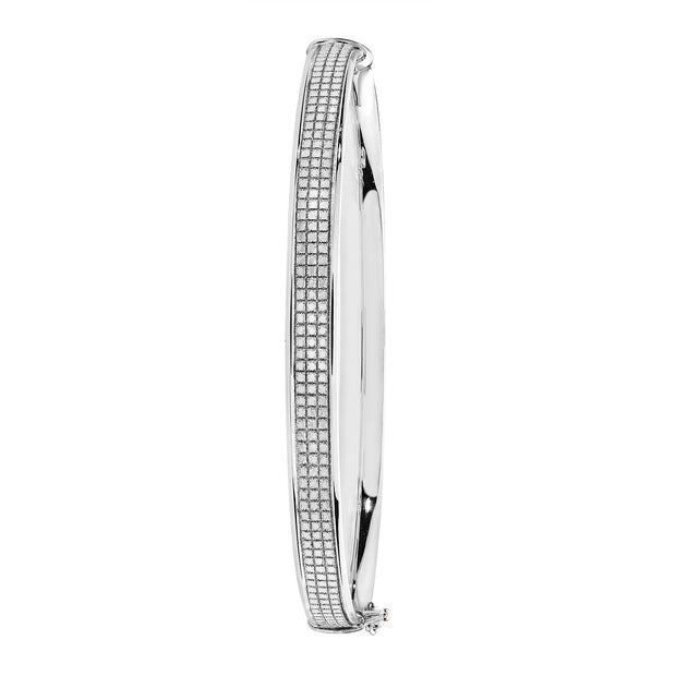 9K White Gold Ladies' Hinged Bangle