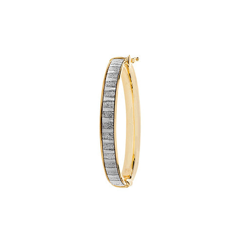 9K Yellow Gold Babies' Hinged Bangle