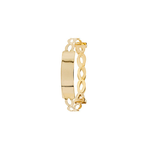 9K Yellow Gold Babies' Expandable Babies' ID Bangle