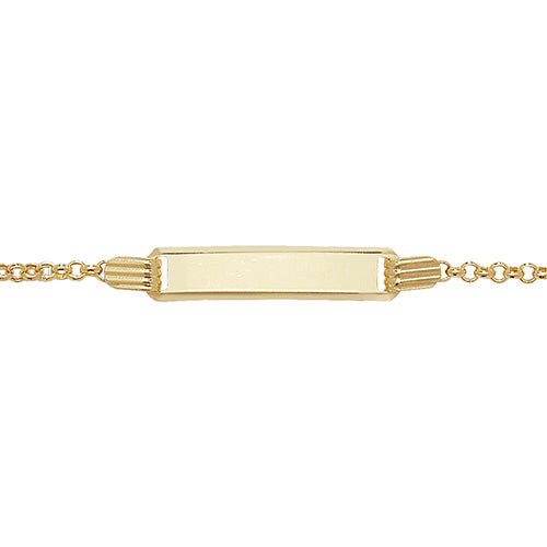 9K Yellow Gold Babies' 5.5 Inches ID Bracelet