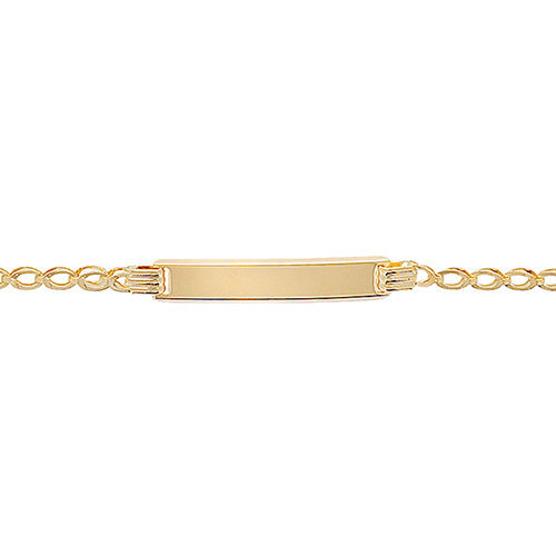 9K Yellow Gold Babies' 6 Inches Id Brclt