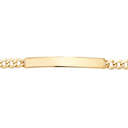 9K Yellow Gold Ladies' Id 7.5 Inches Brclt
