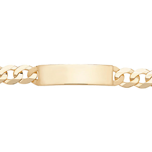 9K Yellow Gold Men's 8.5 Inches Id Bracelet