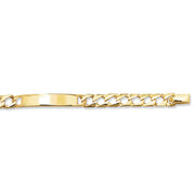 9K Yellow Gold Babies' 5.5 Inches Cast ID Bracelet