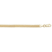 9K Yellow Gold Ladies' 7.5 Inches Flat Woven Brclt