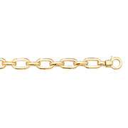 9K Yellow Gold Ladies' 7.5 Inches Hollow Brclt