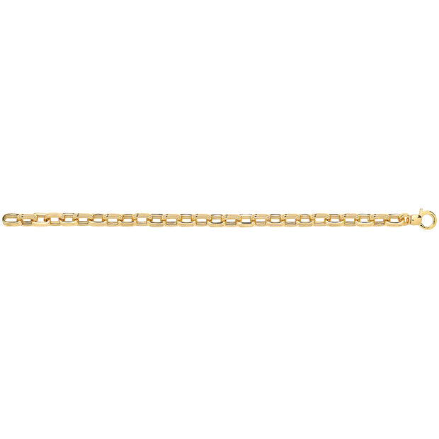9K Yellow Gold Ladies' 7.5 Inches Fancy Brclt