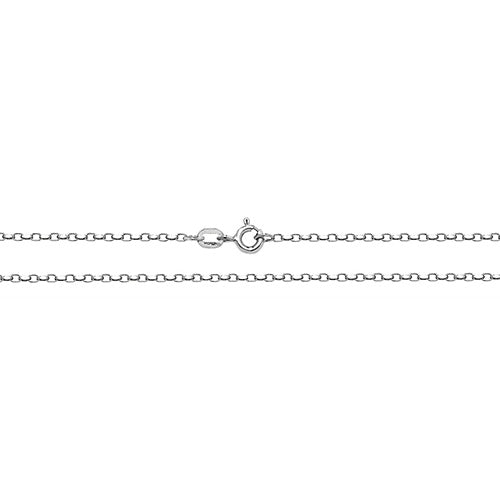 9K White Gold Faceted Belcher Chain