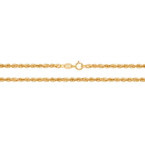 9K Yellow Gold Rope Chain