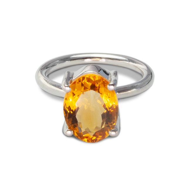 Citrine Ring in Sterl.Silver 5.27ct