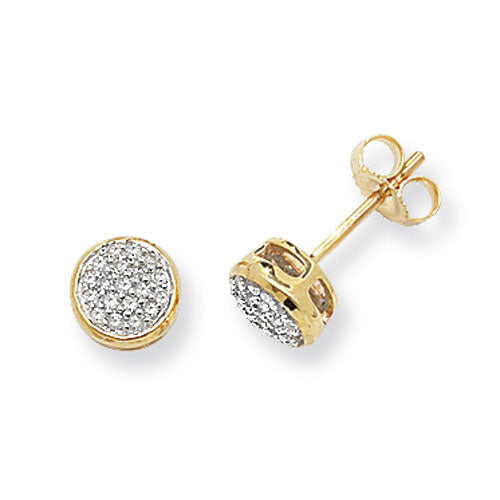 0.17ct Diamond Earring in 9K Gold