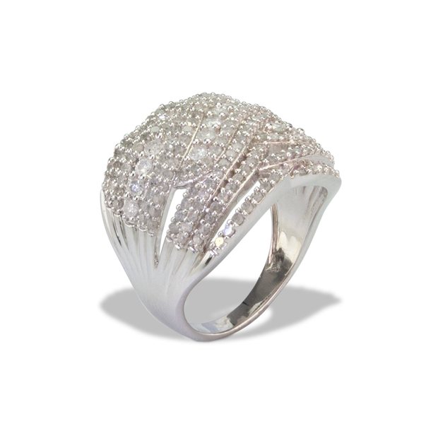 Diamond Ring in Sterl.Silver 0.11ct