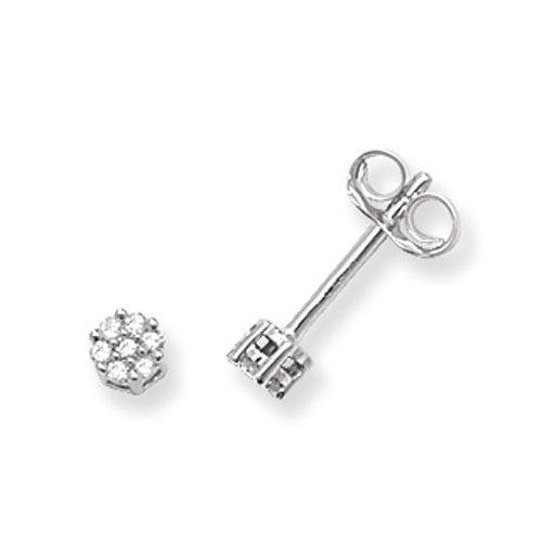 0.07ct Diamond Earring in 9K White Gold