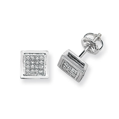 0.13ct Diamond Earring in 9K Gold