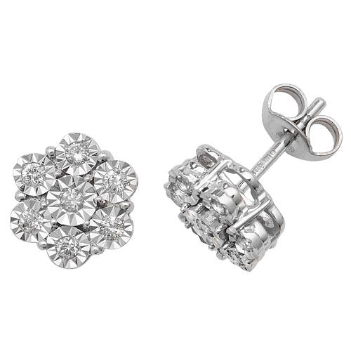 0.25ct Diamond Earring in 9K White Gold