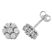 0.08ct Diamond Earring in 9K Gold