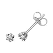 0.05ct Diamond Earring in 9K White Gold