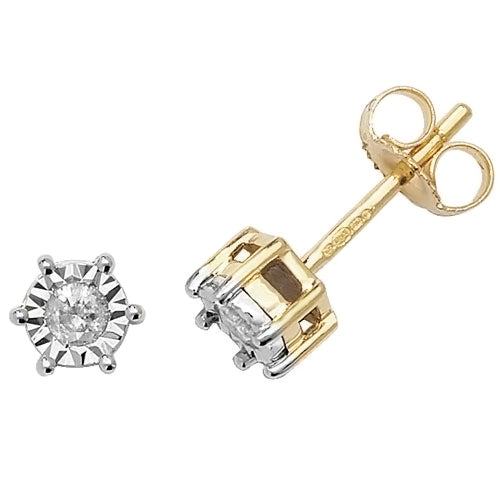 0.15ct Diamond Earring in 9K Gold