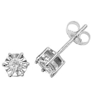 0.20ct Diamond Earring in 9K White Gold