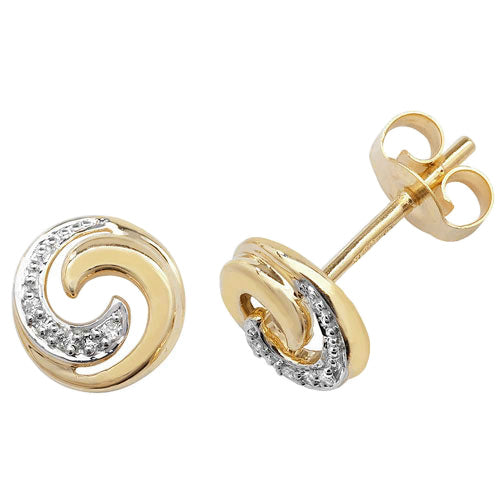 0.018ct Diamond Earring in 9K Gold