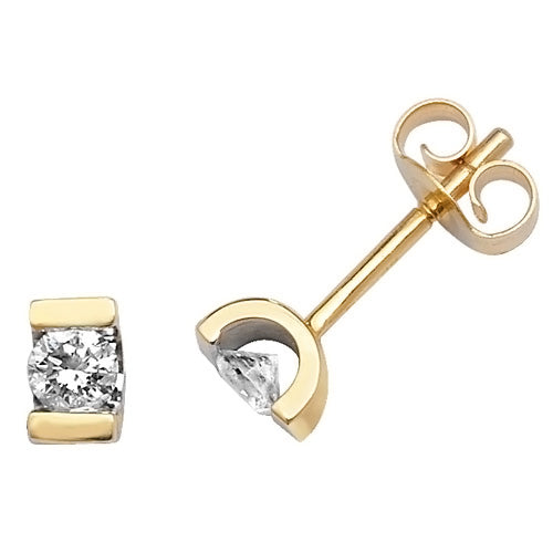 0.25ct Diamond Earring in 9K Gold